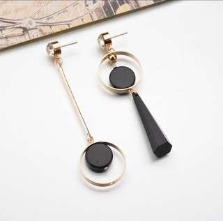 'Cordelia' Unique Geometric Statement Drop Earrings