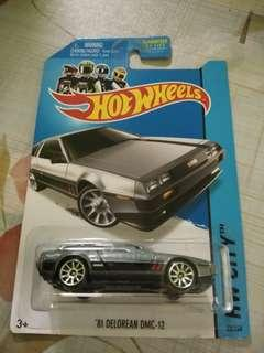 Hot Wheels DMC DELOREAN US CARD