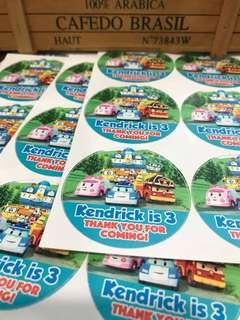 Customised sticker labels for birthday 100 days baby shower full month wedding engagement