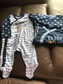[Brand New] (0-3M) Mothercare Sleepsuit