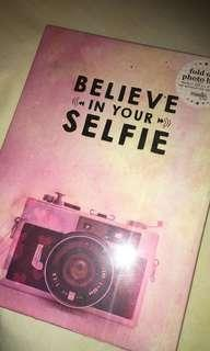 BELIEVE IN YOUR SELFIE fold out photo book