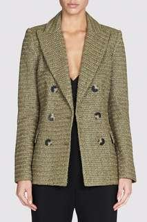 Camilla and Marc Wisteria Raffia Blazer in Khaki Size 8 BNWOT RRP $900
