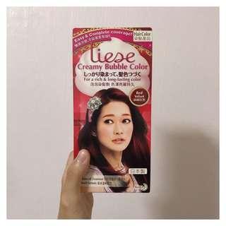 liese creamy bubble color hair dye | red velvet
