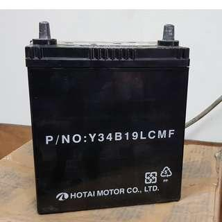 (二手中古電池) 豐田原廠車廠件 Y34B19L-汽車電池 數值漂亮,品項優 FIT 大發 TERIOS 小悍馬