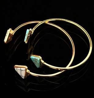 'Olivia' Classic Triangle Faux Marble Bangle