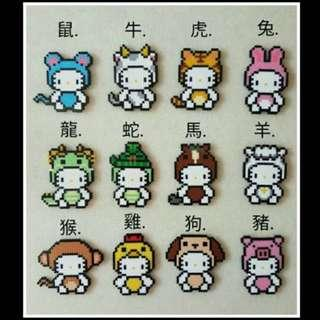Hello kitty系列 12生肖(單售)