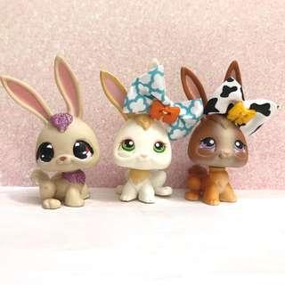 Littlest pet shop lps bunny rabbits