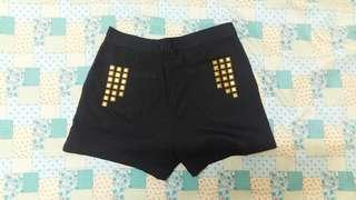 Black Shorts with Studs