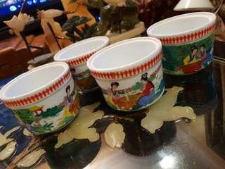4 pcs Chinese bowl containers
