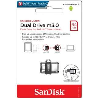 USB Drive Movies 64GB (Sandisk Ultra M.30 OTG)