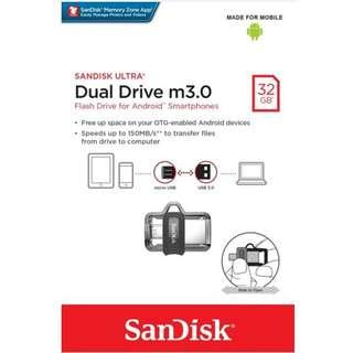 USB Drive Movies 32GB (Sandisk Ultra M.30 OTG)