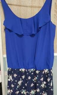 Purpur Romper blue floral