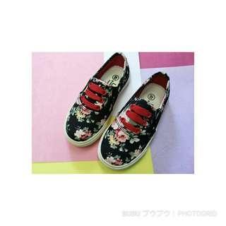 🚚 中國風復古印花帆布鞋