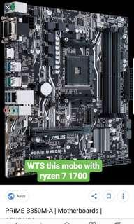 AMD ryzen 7 1700 + ASUS prime B350 matx AM4