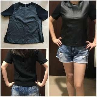 H&M top leather sz 4