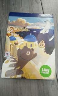 Line friends brown 筆記簿