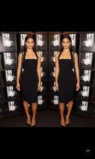 Black Maxi Body Con Black Dress