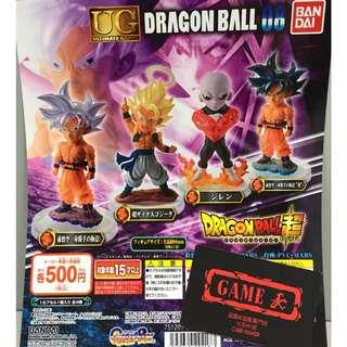 全新 BANDAI GASHAPON TOY 龍珠超 DRAGON BALL SUPER UG DRAGON BALL 08 扭蛋 全4種