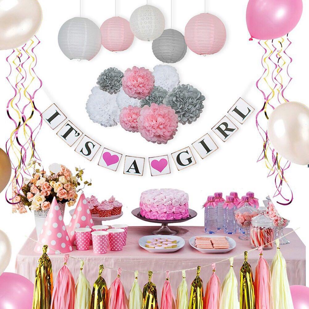 15pcs Baby Shower Birthday Party Decorations Set Design Craft