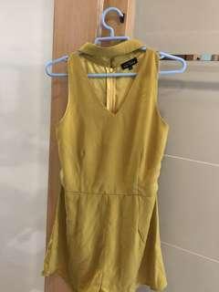Zalora High Neck Playsuit ( Mustard ) 💛
