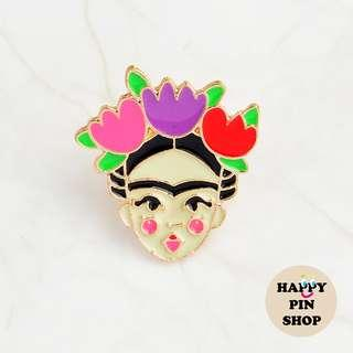 [AVAIL] Frida Kahlo - Kawai version - Enamel Pin [FK03]