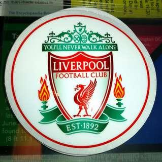 Liverpool FC Static Cling Decals and others. $6 each / 3 for $15. Free Normal Mail / Add $2.90 for AM Mail.