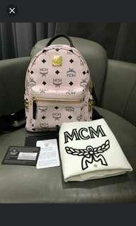 MCM Pink Back Pack - Limited Edition ( Comes With MCM Authentic Card / Dust Bag )