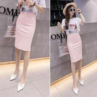 High waisted skirt pink