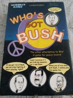 Who's Got Bush Card Game