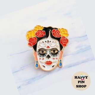 Frida Kahlo - Day of the Dead version - Enamel Pin [FK05]