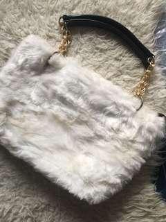White Fur Bag