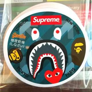 Supreme Bape CDG Milo Superdry Jeunesse Liverpool FC Static Cling Decals. $6 each. 3 for $15. Free Normal Mail. Add $2.90 for AM Mail.