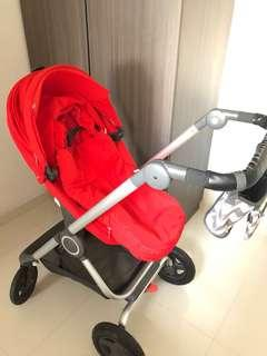 Beautiful Red Stokke Scoot V2