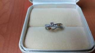 mabelle 18k白金49份彩鑽石戒指