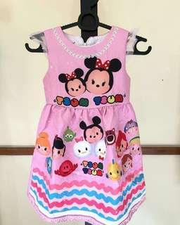 dress tsum tsum pink