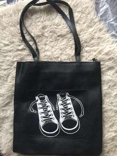 Black Leather with Shoes Design