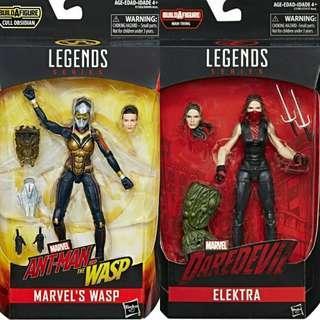 MISB Marvel Legends Ant-Man And The Wasp Marvel's Wasp, Daredevil Elektra Action Figure
