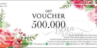 Voucher kecantikan from Beaubrows_YD Rp500.000
