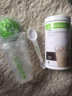 Herbalife Shake with Shaker Cup and Spoon