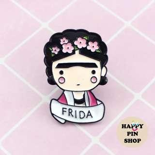 Frida Kahlo - Simple Portrait version - Enamel Pin [FK06]