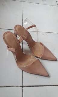 Nude Zara High Heels