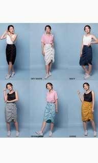 mk gather skirt