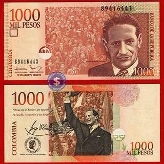 2015 Colombia 1000 Pesos UNC