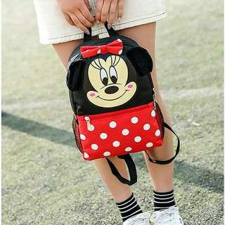 *FREE DELIVERY to WM only / Ready stock* Kids Minnie or Mickey school bag each as design / color. Free delivery is applied for this item.