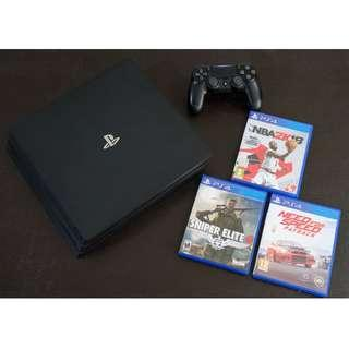 Sony PS4 Pro with PS PLUS account and Games