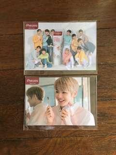 kang daniel pleasia toothpaste postcard + group postcard + 2 boxes of pleasia