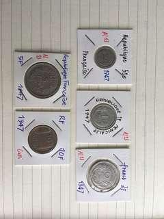 Lot of post WWII French coins