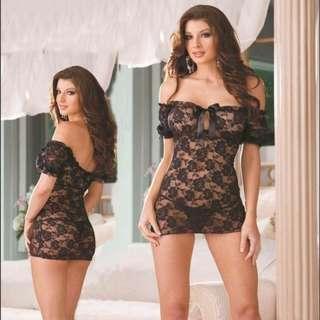 Womens Lingerie Babydoll Night Dress M