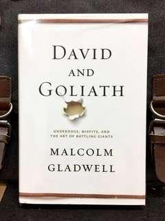 #3×100《NEW! + Hardcover Edition + How The Disadvantages And Smalls Can Defeat The Bigs & Giants》Malcolm Gladwell - DAVID AND GOLIATH : Underdogs, Misfits, and the Art of Battling Giants