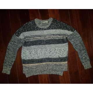 Country Road Grey Gold Wool/Cotton Knit Jumper Sz XS